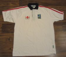 Vintage RUGBY WORLD CUP 2003 Polo Shirt, England, Champs, Short Sleeve, Size XL