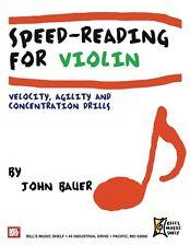 Velocidad de lectura para violín