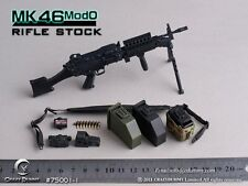 "Crazy Dummy 1:6 MK46 Mod0 Rifle Stock Gun Weapon Model 75001-1 For 12"" Figure"