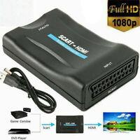 CONVERTITORE ADATTATORE DA HD AV HDMI A SCART 1080P PER HDTV WII XBOX PS3 TV BOX