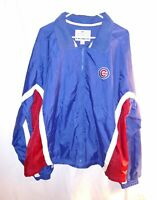 Chicago Cubs Majestic Athletic Mens Jacket Size XL Blue Red MLB Baseball NWT