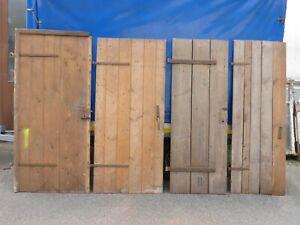 Konvolut: 4x alte Tür Holztür Brettertür Kellertür Stalltür Werkstatt Bauernhof
