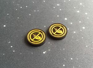 X-Wing 2.0 compatible, acrylic disarm tokens - black series
