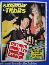 Titbits Magazine- Andy Williams, Bruce Irwin, Leslie Charteris    9th Sept.1972