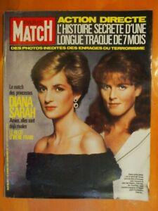Paris Match 1971 du 06/03/1987-Match des princesses Diana & Sarah-Action Directe