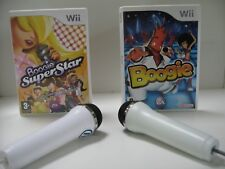 Wii KARAOKE Boogie Ultimate BUNDLE -> 80+ SONG + DANCE + 2 MICROPHONES UK PAL