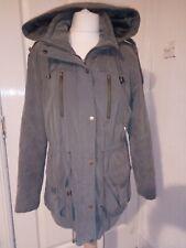 Asos Ladies Khaki Parka Coat Size 8 jacket