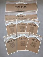 Handmade Personalised Vintage Rustic Lace Table Seating Plan Individual Cards