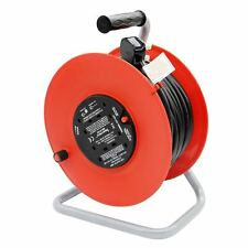 50 Metre Cable Reel 13A Freestanding 4 X Gang Sockets Extension Lead
