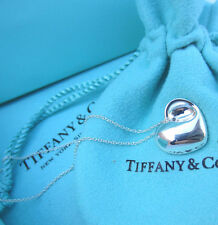 "AUTHENTIC Tiffany & Co. Sterling Silver Folding Heart Pendant Necklace 16"" #241"