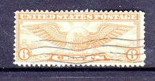 #C19  6 CENT WINGED GLOBE        FANCY CANCEL   USED     d