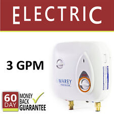 Tankless Hot Water Heater Electric 3 GPM Marey Instant On-Demand PowerPack