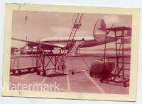 1958 vintage color snapshot photo Lockheed Constellation Airplane N6217C Bermuda