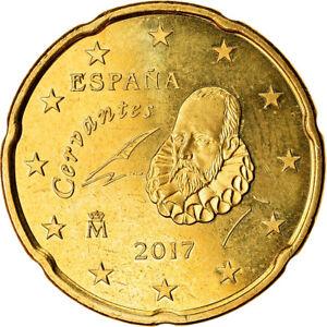 [#765795] Espagne, 20 Euro Cent, 2017, SPL, Laiton