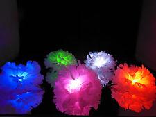 White Lightup LED Hair Clip - Bachelorette party favor, bridesmaid, girls night