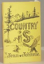 COUNTRY IS Canadian Cookbook Jean Johnnie