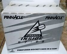 1997-98 Pinnacle Hockey Cards in a Can Unopened Case Of 24 Cans 240 Total Cards