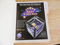 STAR CATCHER    ARCADE GAME  FLYER