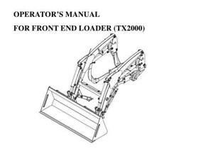 TYM TX2000 Loader Operators Manual