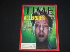 1992 JUNE 22 TIME MAGAZINE- ALLERGIES, HOW YOU GET, AND GET RID OF, THEM- T 2740