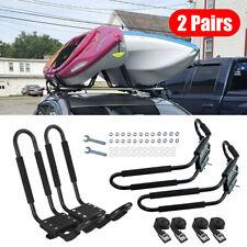 4x Kayak Carrier Double J Cross Bar Rack Canoe Raft Fit Car Roof Truck Bed Mount