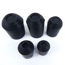 Walking Stick Rubber Ferrules/Feet Stoppers Black 5 Sizes