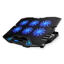 "6 Fans Blue LED USB Port Cooling Stand Pad Cooler For 12""-15.6"" Laptop Notebook"