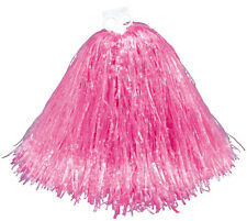 Small Pink School Girl Cheerleader Football Basketball Pom Pom Fancy Dress New