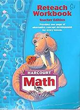 Reteach Workbook - Teacher Edition Harcourt Math Grade 6 HSP