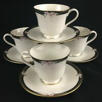 Set of 4 VTG Cups and Saucers by Royal Doulton Vogue Enchantment TC1156 Floral