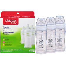 Playtex BPA Free Premium Nurser Bottles with Drop In Liners 3 Count 8 Ounce
