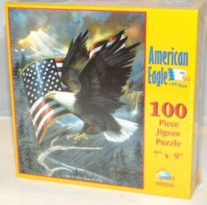 AMERICAN EAGLE RUANE MANNING U S Flag 100 Pc Jigsaw Puzzle New