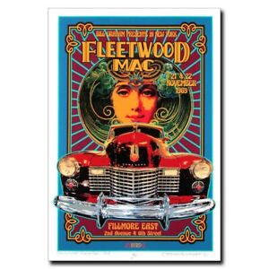 Fleetwood Mac 24x36inch 70s Rock Band Silk Poster Wall Decoration