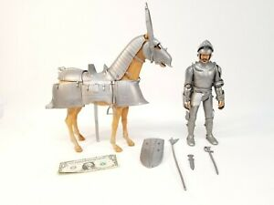 "1960'S MARX TOYS SIR ROLAND KNIGHT Action Figure & ARMOURED HORSE 12""    DJ"