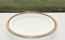 Antique Cauldon Gilt Laurel Steak Plate  28cm c1910 Maples London