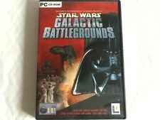 STAR WARS GALACTIC BATTLE GROUNDS - PC CD ROM COMPLETE VGC ORIGINAL DOCUMENTS