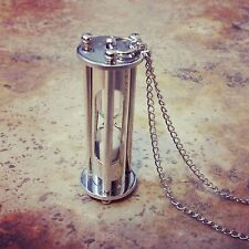Hour Glass Hourglass Pendant & Necklace Hot Sale Vintage Style Silver Sand Timer