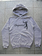 100% AUTHENTIC DSQUARED HAPPY LUCKY MAN HODDIE SWEATER GRAU S W. NEU 71GP274 RAR