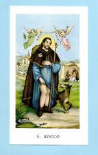 SANTINO SAN ROCCO  IMAGE PIEUSE - HOLY CARD SANTINI