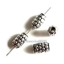 10 Intercalaires spacer argent 9x5.5x5.5mm Perles apprêts création bijoux _ A276