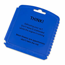 Ice Scraper Card with THINK! Security Message. Windscreen Cleaner, Car Frost