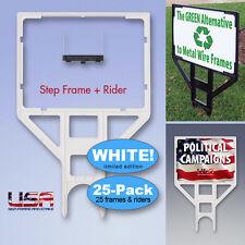 Yard Sign Frame 25-PACK **WHITE LIMITED EDITION** Real Estate Sign Frame - 18x24