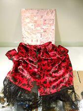 "jim thompson scarf thai silk 72"" red & black design"