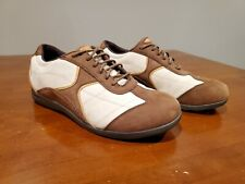 Barefoot Freedom Drew Elite Brown Tan Soft Leather Sneakers Shoes Womens 9 Wide
