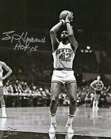 Spencer Haywood NY Knicks Signed 8x10 Shooting Photo w/ HOF 15 Insc - Fanatics