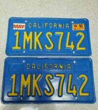 RARE•PAIR DMV CLEAR (CALIFORNIA) •LICENSE PLATE•VINTAGE•