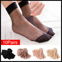 10 Pairs Women Ultra Thin Elastic Silk Girl Short Stockings Ankle Low Cut Socks