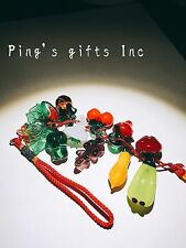 Glass Chinese traditional Handicrafts Decorate Pendant With Various Fruits Red
