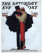 Rare Original VTG 1932 Saturday Evening Post Paris Rockwell Cover Only Art Print
