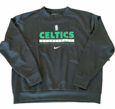 Nike Boston Celtics Player Issued Pullover Crewneck Black Green Size XL NWT